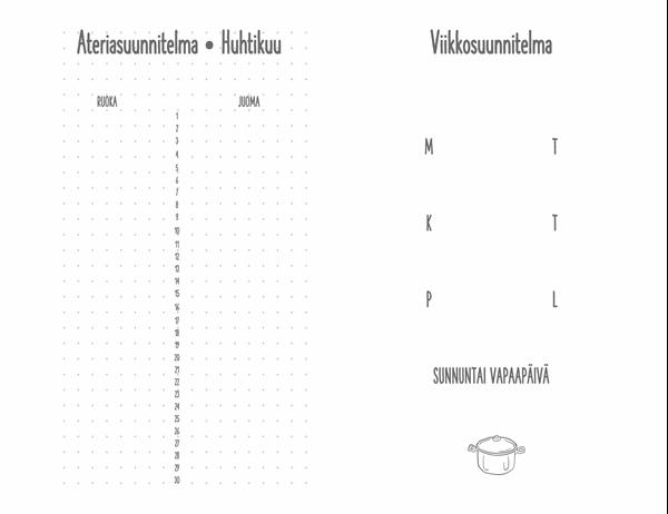 Aterioiden suunnittelupäiväkirja