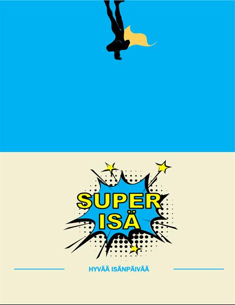 Isänpäivänkortti Super-isä