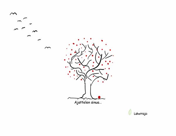 Surunvalittelukortti (puu)