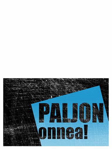 Syntymäpäiväkortti, naarmutettu tausta (musta, sininen, taitettava)