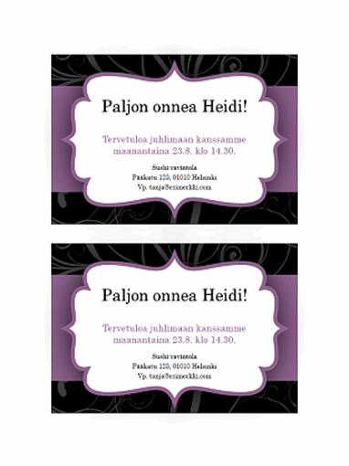 Juhlakutsu (violetti nauha)
