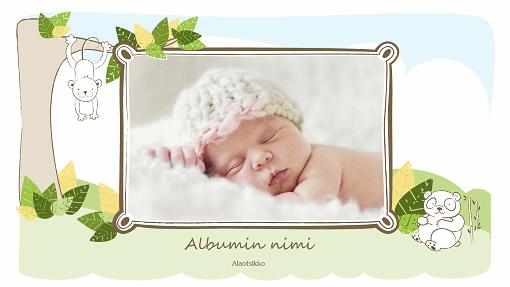 Vauva-albumi (piirrettyjä eläimiä, laajakuva)