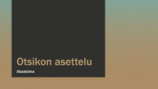 Esitys sinisen ja kellanruskean sävyillä (laajakuva)