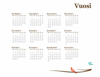 Linnut-vuosikalenteri (ma–su)