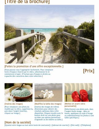 Brochure de voyage photo