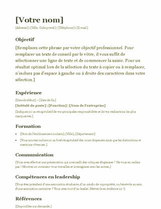 C.V. (vert)