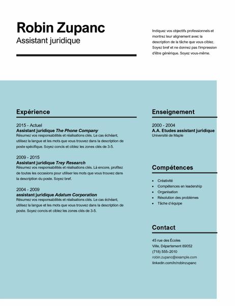 CV avec un impact