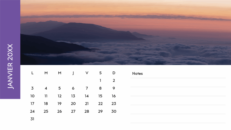 Calendrier photo Paysages