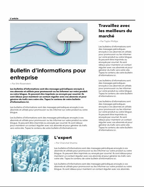 Bulletin d'informations – Entreprise