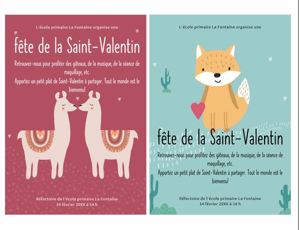 Affichette de Saint-Valentin pour les enfants