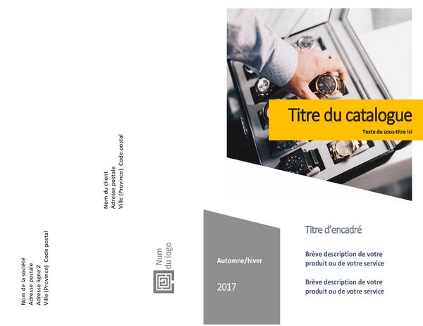 Catalogue de produits (création de formulaires, plié en deux, 8pages)