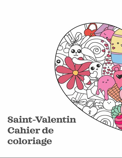 Cahier de coloriage de Saint-Valentin