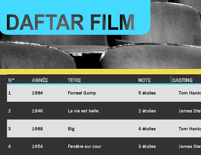 Liste de films