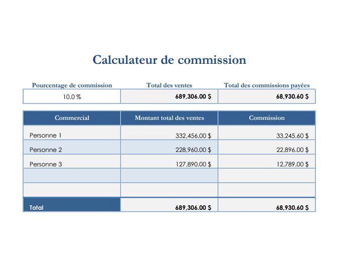 Calculateur de commission