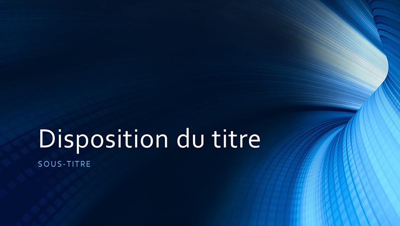 Présentation tunnel bleu numérique pour les professionnels (grand écran)
