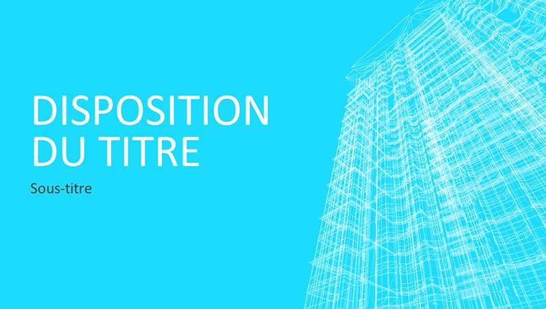 Présentation Structure de bâtiment (écran large)