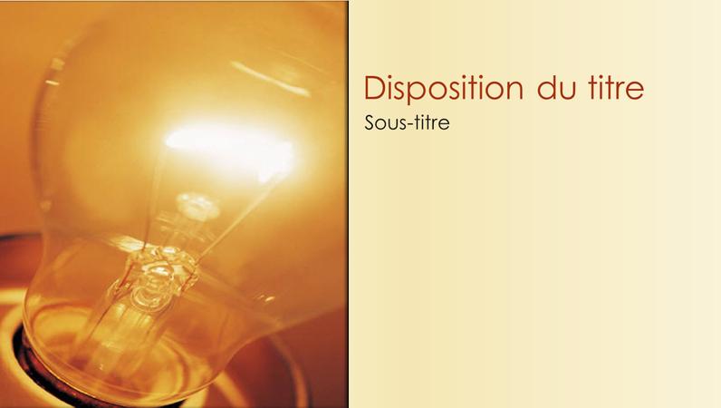 Diapositives conception Idée