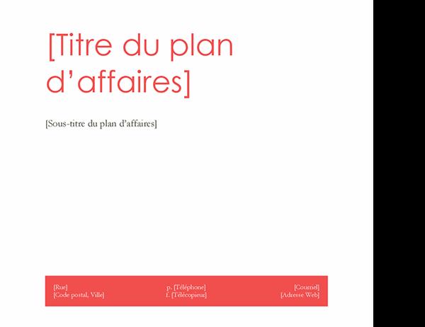 Plan de développement (conception Rouge)
