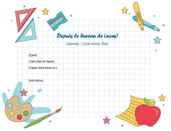 En-tête de lettre pour enfants