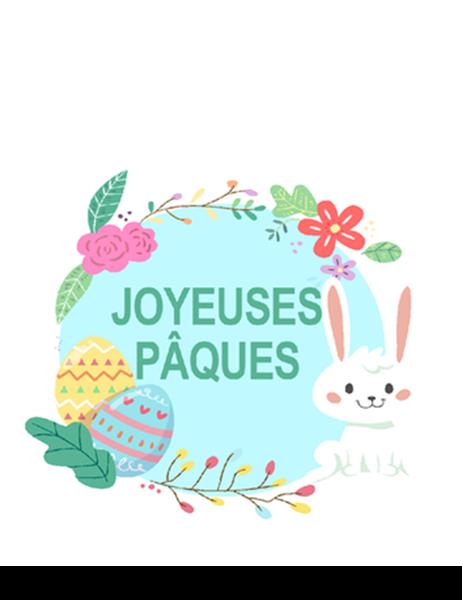 Carte Joyeuses Pâques (pliée en quatre)