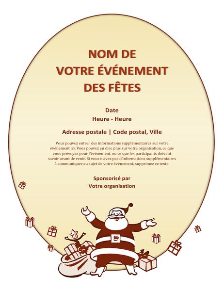 Prospectus d'événement de Noël