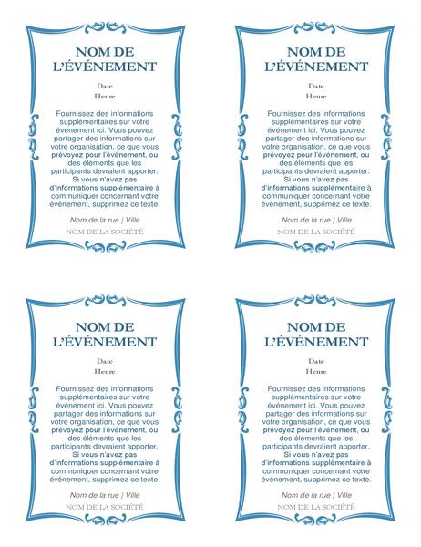 Invitations à un événement (4 par page)