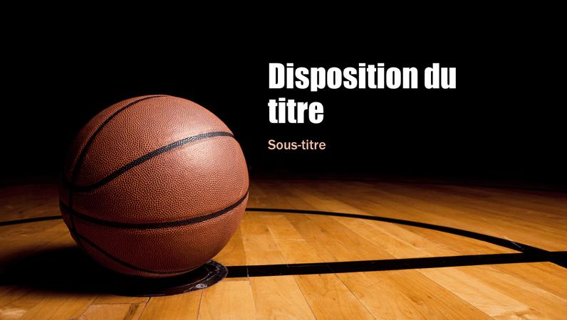 Présentation pour le basketball (grand écran)