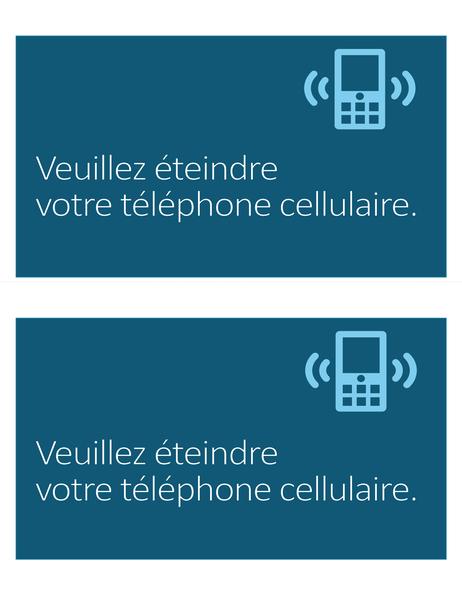 Pictogramme Téléphone cellulaire interdit (deux par page)