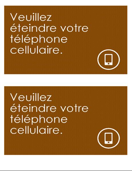 Pancarte anti-téléphone portable (2 par page)