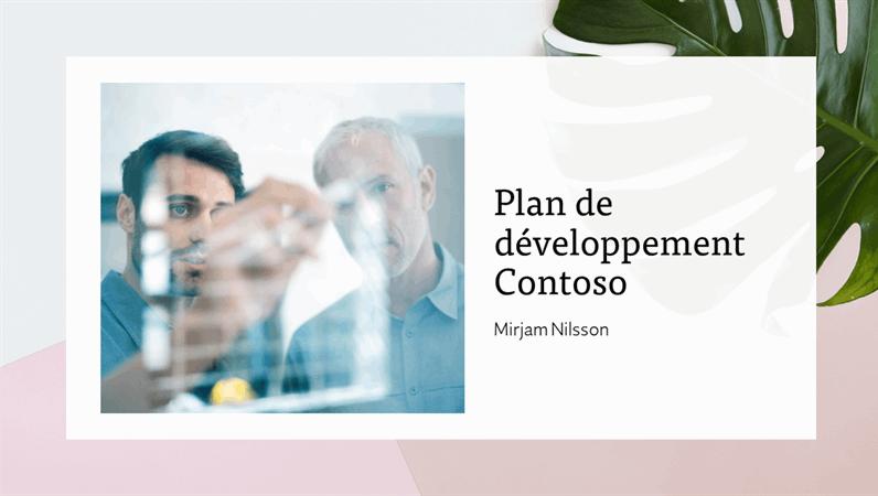 Présentation de plan de développement