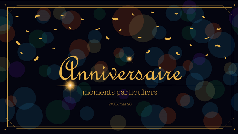 Moments forts de la vie – Anniversaire