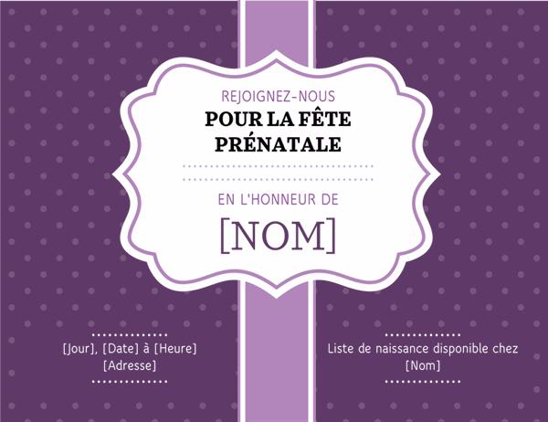 Invitation à une fête prénatale