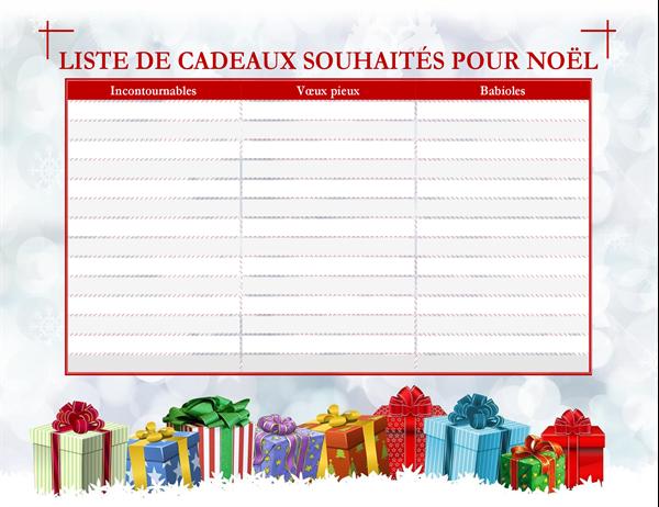 Liste d'idées cadeaux de Noël (pour adulte)