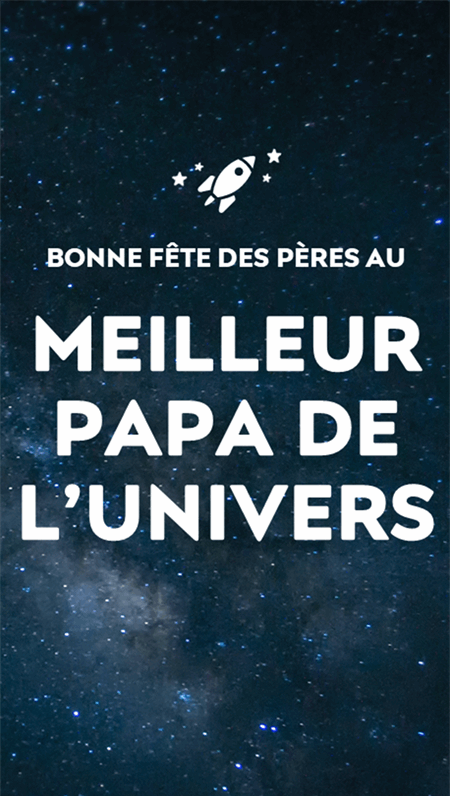Cartes du cosmos pour la fête des pères