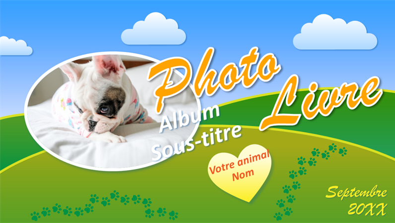 Album photo d'animaux de compagnie