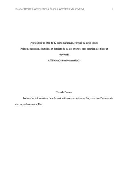 Document de style APA