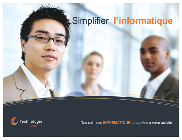 Affiche d'entreprise à vocation technologique (horizontale)