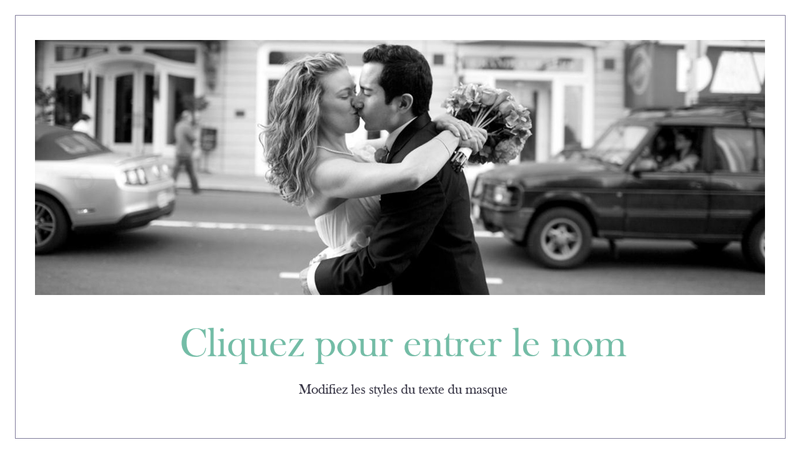 Album photo de mariage simple