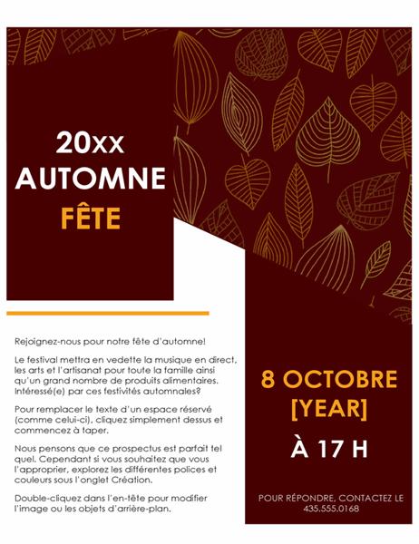 Prospectus festival d'automne
