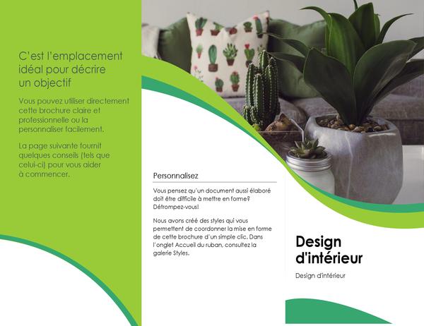 Brochure de design d'intérieur