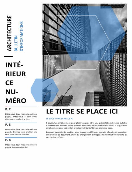 Bulletin d'informations sur l'architecture