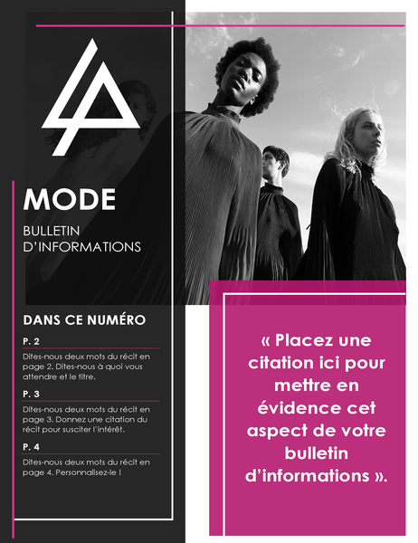 Bulletin d'informations mode