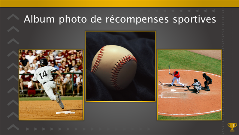 Album photo de récompenses sportives