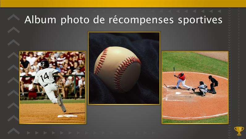 Album photo de récompenses sportives
