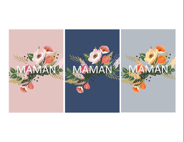 Une charmante carte de fête des mères