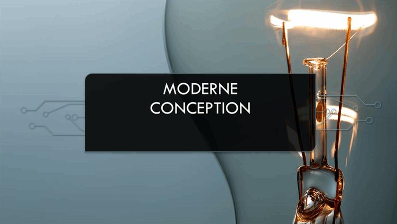 Conception moderne