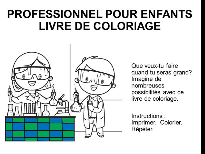 Album De Coloriage Metiers Pour Enfants