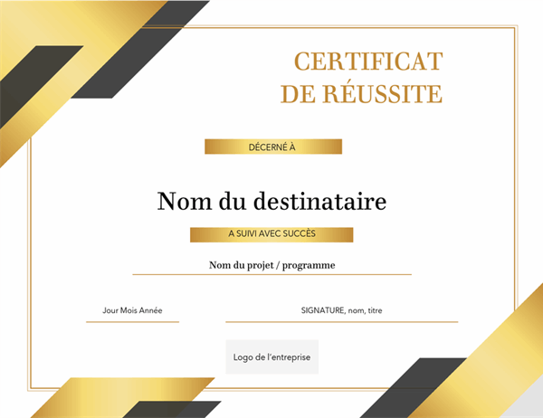 Certificat formel