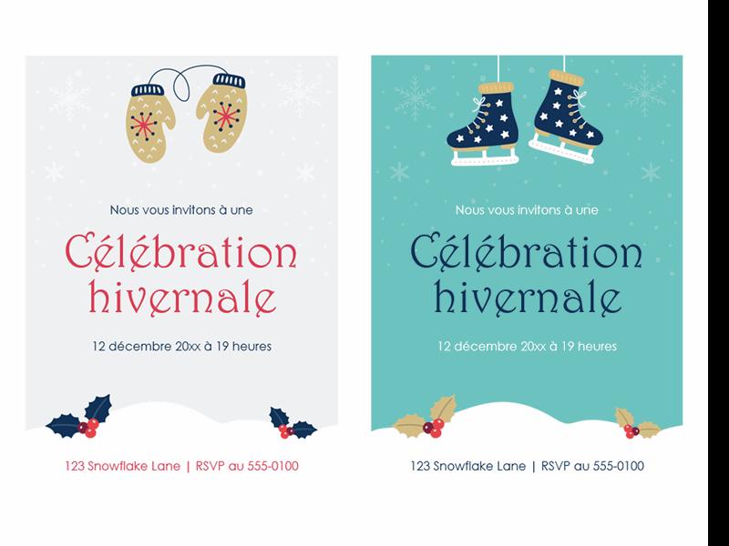 Invitations à une fête de fin d'année