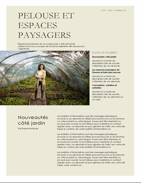 Bulletin d'informations sur l'aménagement paysager